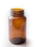 布朗瓶isoalate 免版税库存照片