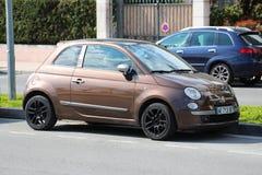 布朗由柴油的菲亚特500 免版税库存图片