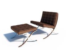 布朗皮椅 免版税库存图片