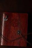 布朗皮革书套 免版税图库摄影