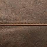 布朗皮革材料片段 免版税库存图片