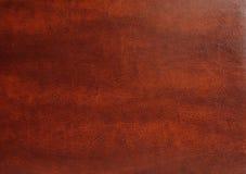 布朗皮革纹理 免版税库存图片