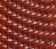 布朗皮革被编织的纹理背景 库存照片