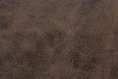 布朗皮革织品纹理背景 免版税库存图片