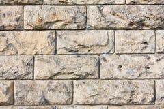 布朗石墙 免版税库存照片