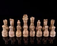 布朗石头做了国际象棋棋局II 免版税库存照片
