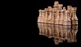 布朗石头做了国际象棋棋局III 免版税库存照片