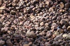 布朗石头 库存图片