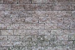 布朗砖墙背景 库存照片