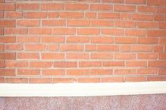 布朗砖墙背景 免版税库存照片