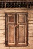 布朗窗口 免版税库存照片