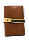 布朗笔记本 免版税库存照片
