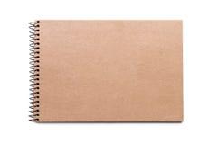 布朗笔记本 库存图片