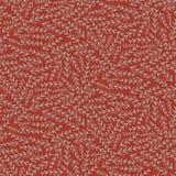 布朗红色叶子花卉纹理无缝的样式 皇族释放例证
