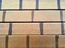 布朗纸盒 图库摄影
