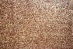 布朗美好皮革的背景和的纹理 免版税库存照片