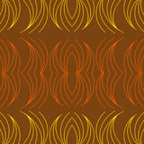 布朗背景,黄色和橙色线曲线矩阵  图库摄影