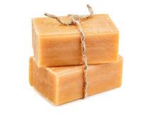 布朗自然肥皂 免版税库存照片