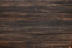 布朗自然被绘的木纹理和背景 免版税库存照片