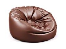 布朗软的皮革装豆子小布袋 向量例证