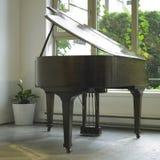 布朗钢琴 库存照片