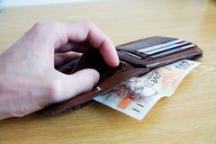 布朗钱包 免版税库存照片