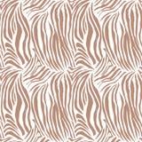 布朗镶边了斑马动物无缝的传染媒介印刷品 免版税库存照片