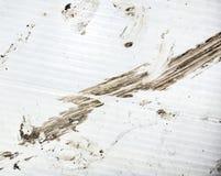 布朗难看的东西肮脏的污点背景 库存照片