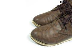 布朗鞋子 免版税库存照片