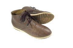 布朗鞋子 免版税库存图片
