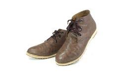 布朗鞋子 库存照片