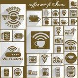 布朗颜色咖啡WIFI 免版税图库摄影
