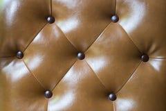 布朗颜色皮革纹理背景 免版税库存照片