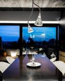 布朗饭桌有美丽的景色 免版税库存照片
