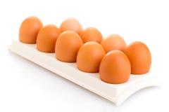 布朗鸡鸡蛋 库存照片