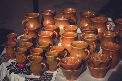 布朗黏土瓦器陶瓷 免版税库存照片