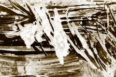 布朗黑色白色巧克力画笔冲程背景 向量例证