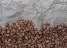 布朗从咖啡粒的背景样式 免版税库存照片