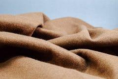 布朗织品纹理,布朗毛毡 免版税库存照片