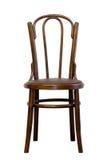布朗bentwood椅子,隔绝在白色背景 免版税库存图片