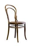 布朗bentwood椅子,隔绝在白色背景 库存图片