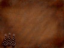 布朗Grunge圣诞节背景 免版税库存图片