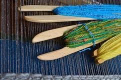 织布机用工具加工木 免版税库存图片