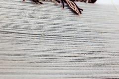 织布机螺纹 免版税图库摄影