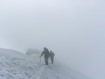 布来特峰山顶 库存照片
