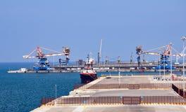 布林迪西港在南意大利 库存照片