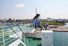 布林迪西港在南意大利 免版税库存照片