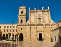 布林迪西,普利亚,意大利罗马教皇的大教堂大教堂  库存照片