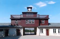 布痕瓦尔德集中营的大门在威玛,德国附近的 免版税库存照片