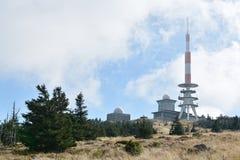 布罗肯峰的山顶 免版税库存图片